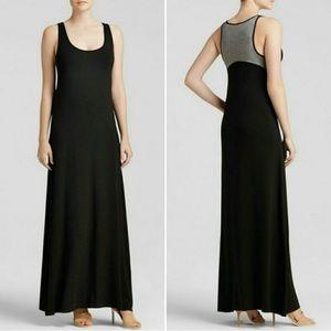 Vince Black Chambray Jersey Knit Maxi Dress